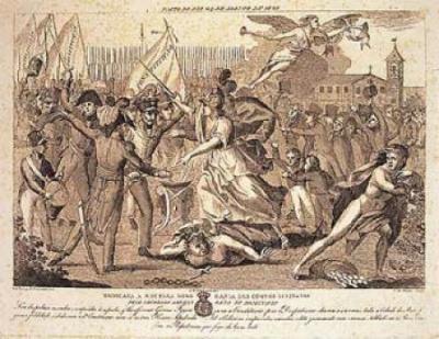 Ilustração sobre a Revolução Liberal